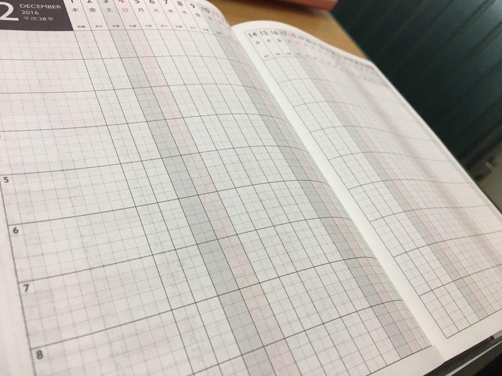 プロジェクト計画欄は家族のスケジュールを記入するにも便利