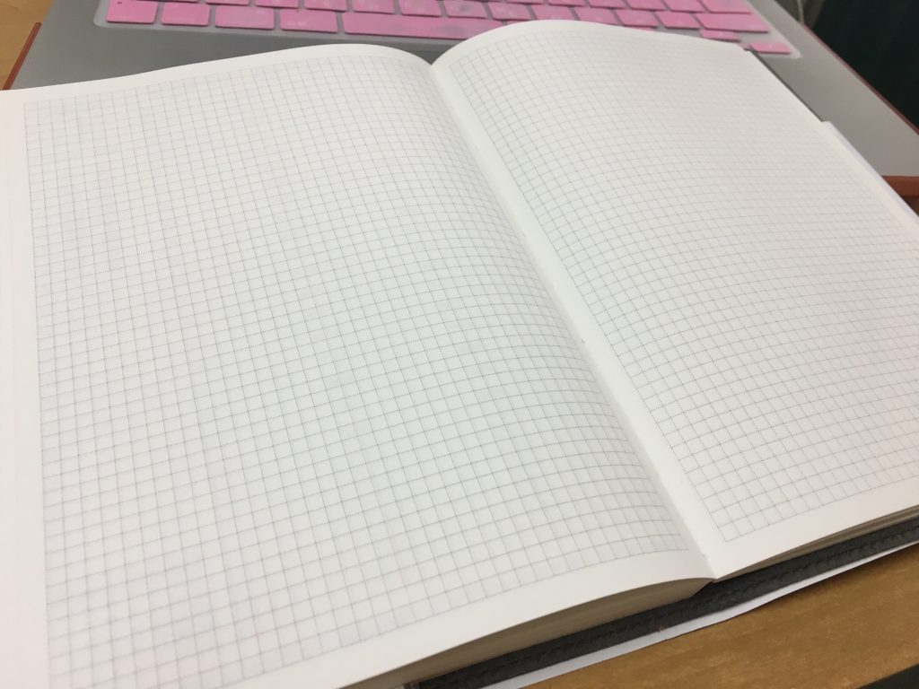 本田健未来を開く手帳の中身、フリーページは方眼メモ